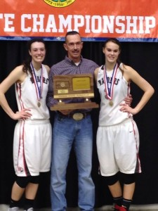 Kaylee (on left), pictured with her father, Jim & sister Lanie.