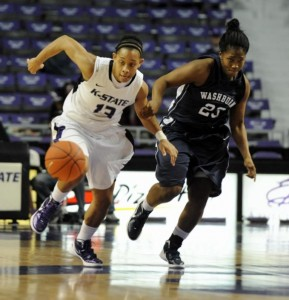 Tasha Dickey scored a game-high 18 points in Kansas State's 65-45 win over Texas Saturday in Bramlage Coliseum.