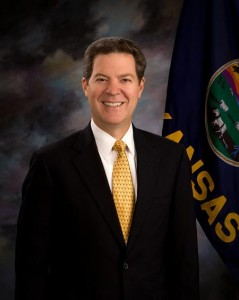 Kansas Governor Sam Brownback, who spoke with reporters Thursday about the coming funding fight over NBAF.