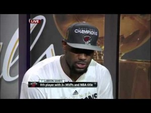 Le Bron James reflects on winning first NBA title
