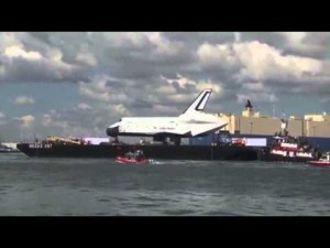Space Shuttle Enterprise arrives in the Big Apple