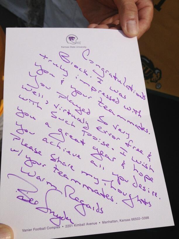 Snyder sends congratulatory note news radio kman snyder note thecheapjerseys Gallery