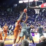 K-State's Wesley Iwundu drives to the basket for two points in Saturday's win over Texas (Photo by Erik Stone)