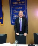 Sen. Moran at Manhattan Rotary; Photo by Cathy Dawes