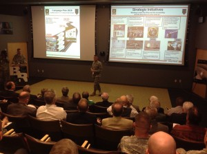 1st Infantry Division Commander Major General Paul Funk presents strategic plan