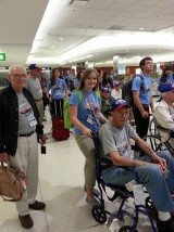 Photo Courtesy of Kansas Honor Flights- Wamego High School Facebook page