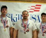 Picture L-R: Quin Call (Gold Medalist- Air Conditioning Refrigeration); Mike Shelkey (Silver MedalistAir-Conditioning Refrigeration); Brant Morris (Bronze Medalist Auto Collision Repair)