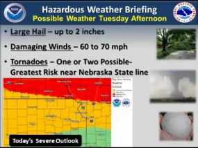 7 am Briefing on Severe Weather Potential from NWS Topeka