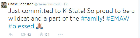 Johnston tweet