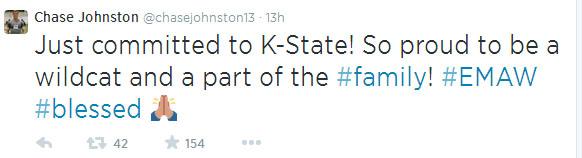 Johnston tweet
