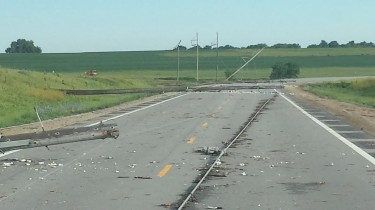 Storm damage on Highway 24