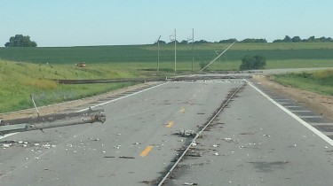 Storm Damage on U.S. 24