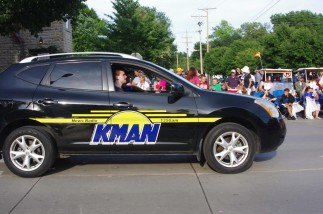 KMAN vehicle in Wamego parade.  Courtesy of Smoke Signal.