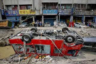 APTOPIX Taiwan Gas Explosions