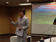 Jackie Hartman at Intergovernmental Meeting; Photo by Cathy Dawes