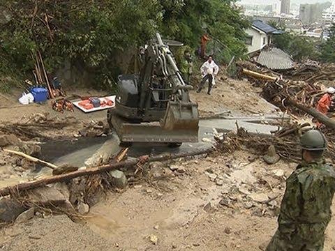 Japan Landslide Rescuers Struggle in Heavy Rain