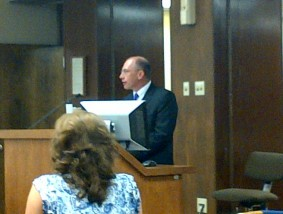 kevin at county commission meeting