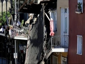 Building Collapse in New Orleans French Quarter