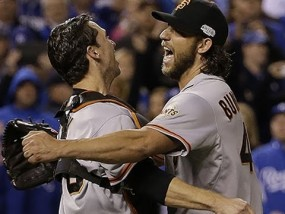 Giants edge Royals, win 3rd Series title in five years