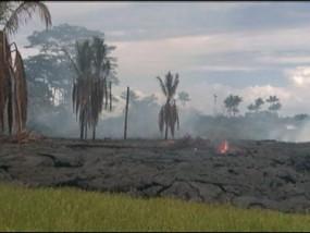 Lava moving near homes on Hawaii's Big Island
