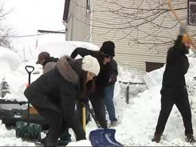 Buffalo Residents Digging Out, Helping Out