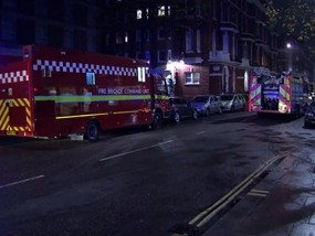 Suspected Gas Explosion at London Hotel