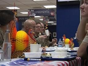 U.S. Troops Celebrate Thanksgiving in Afghanistan