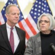 U.S. Senator Jerry Moran during a Dec. 4, 2012, press conference with Alan Gross' wife Judy.