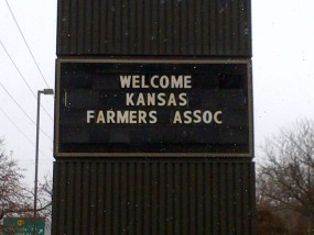 farmers convention sign
