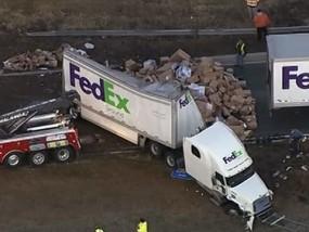 Holiday Horror! FedEx Crash Litters NJ Roadway