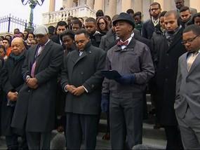 U.S. Capitol Staffers Raise Hands for Ferguson