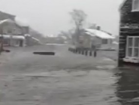 Flooding in Nantucket After Powerful Storm
