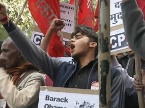 Obama Visit Draws Protests in India
