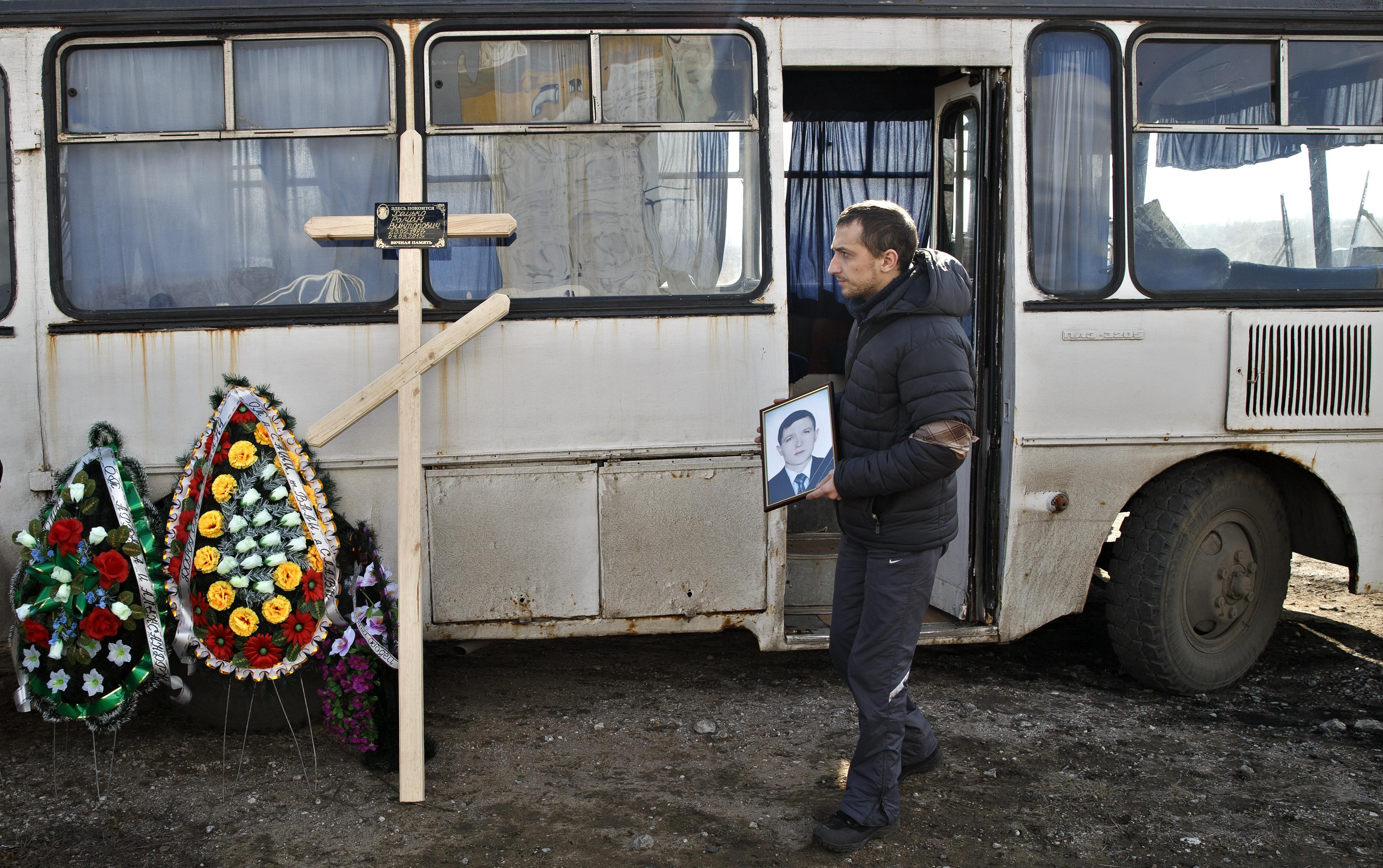 Funerals held for Ukraine mine victims