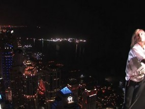 Climber Scales One of Dubai's Tallest Towers