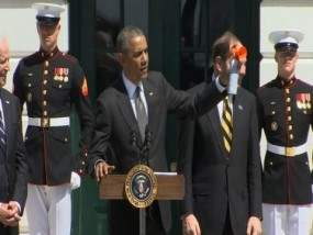 Obama to Wounded Vets: 'You're Not Alone'