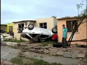 Tornado Slams Mexican Border Town