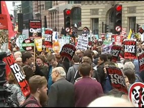 Anti-Austerity Protest in London