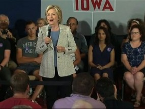 In Iowa, Hillary Clinton Defends Health Care Act