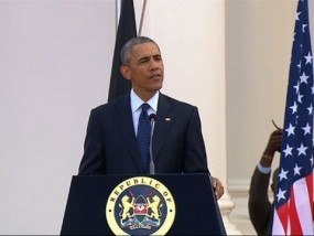 In Nairobi Visit, Obama Talks US-Kenya Ties