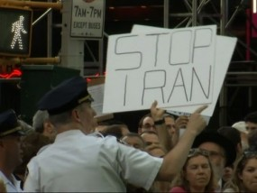 Iran Deal Triggers Times Square Protest