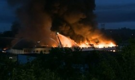 Warehouse Fire Outside of Cleveland