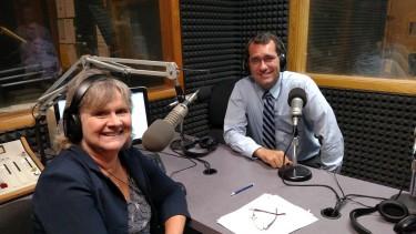 Kansas Attorney General Derek Schmidt with News Director Cathy Dawes