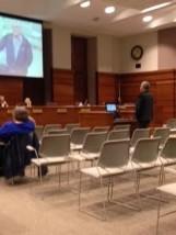 Pat Brodersen addressing Law Board