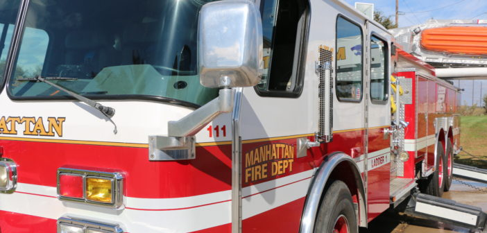 Manhattan Fire investigating what sparked vehicle fire in garage
