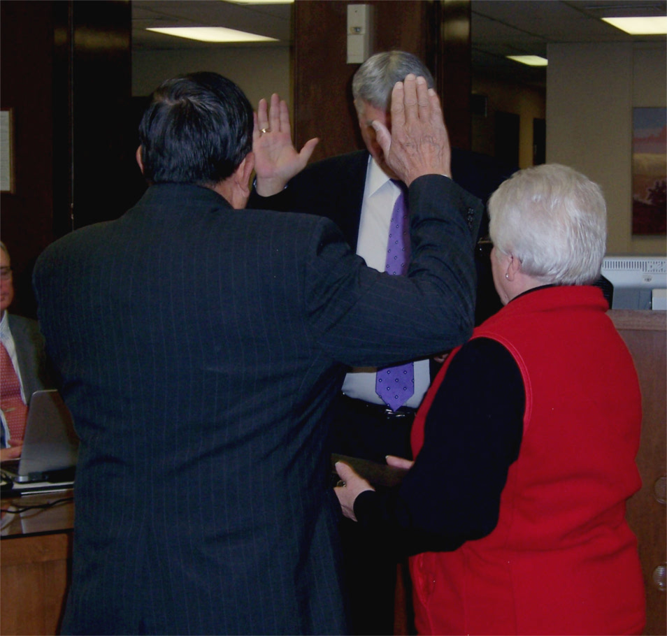 Rodriguez Sworn In As Newest Riley County Commissioner border=