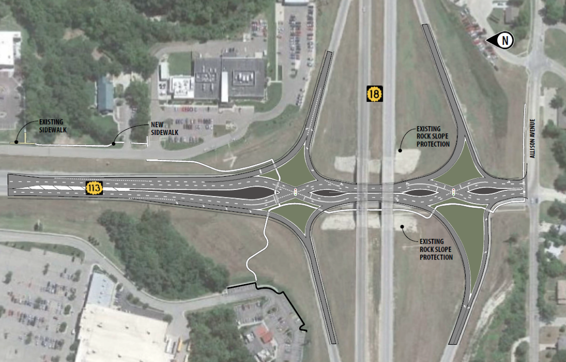 Diamond interchange project to begin - B104.7 Today's Hit ...
